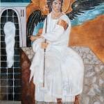 Beli Anđeo - 70x50, Ulje na platnu, umetnik Darko TOPALSKI