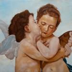 Bogeroovi andjeli (Prvi Poljubac) - 100x70, Ulje na platnu, umetnik Darko TOPALSKI