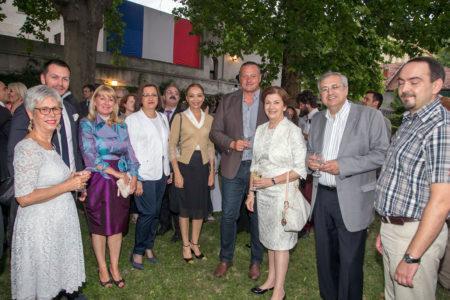 Darko Topalski na prijemu u bašti Francuske Ambasade u Beogradu