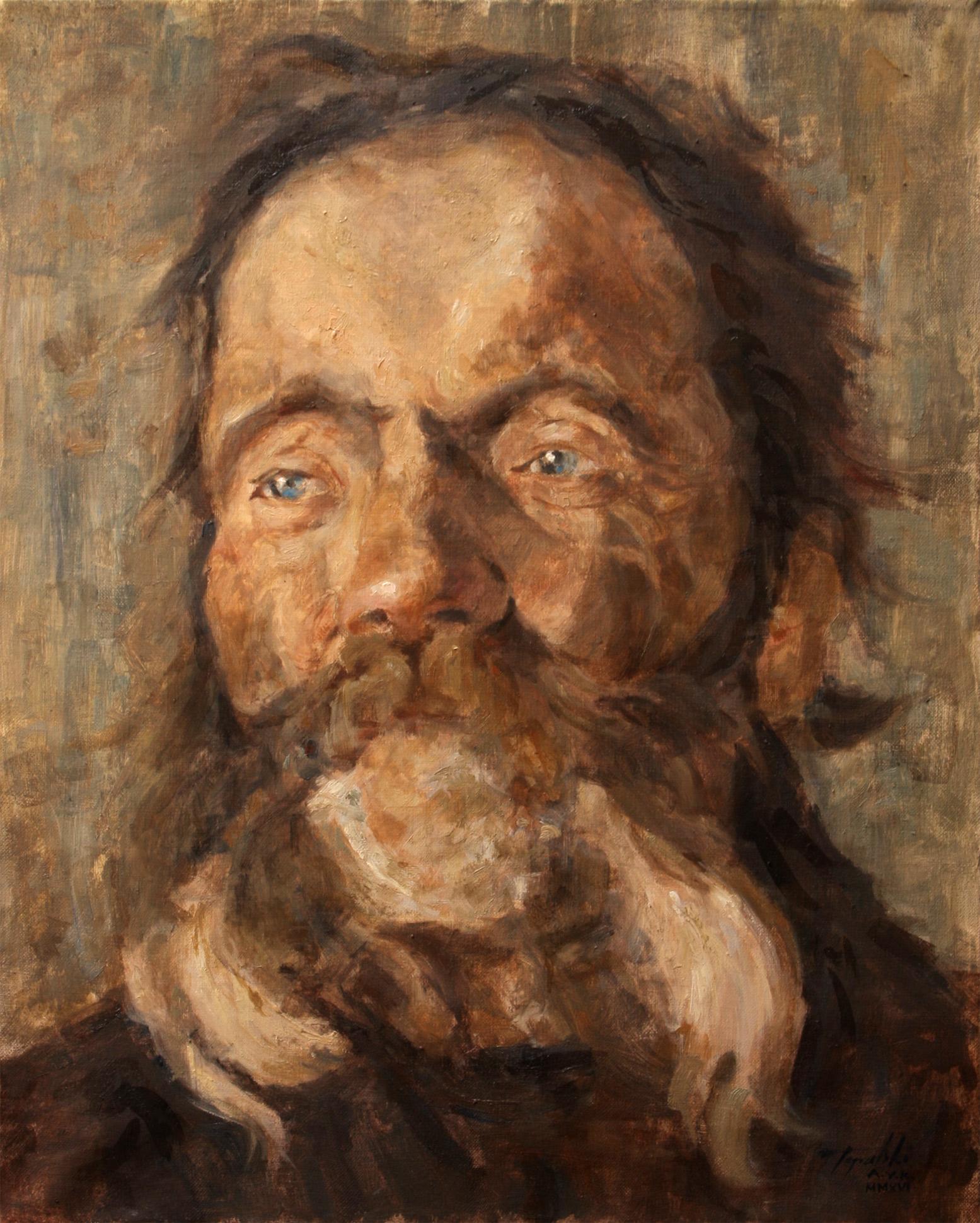 Umetnička Slika Portret Glava Starca - 50x40cm, Ulje nakon V. Kovačević