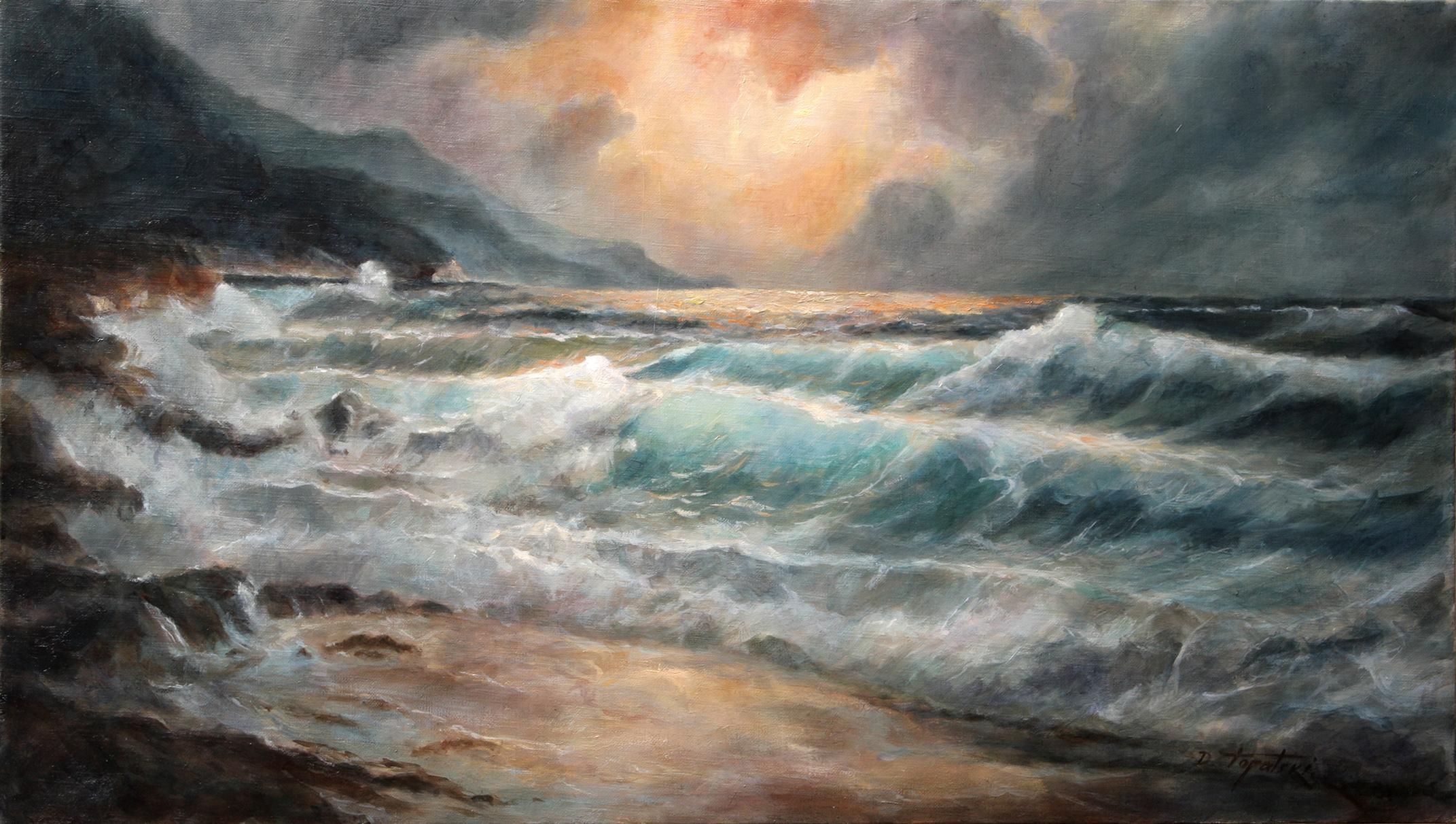 More i Talasi - 40x70cm, Ulje na Platnu