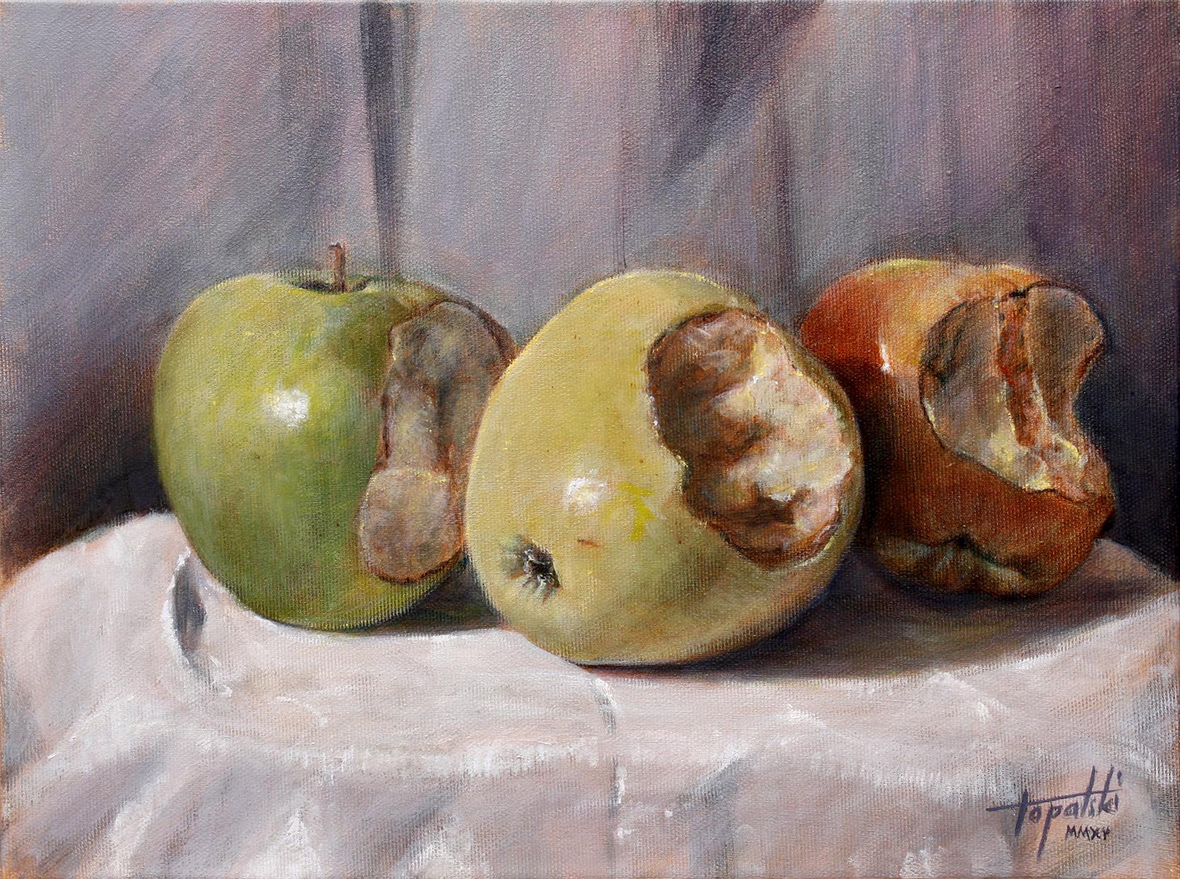 I-Painting APPLE, 40x30cm, Akril i ulje na platnu, umetnik Darko TOPALSKI