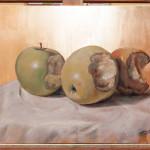 I-Painting APPLE, 40x30cm, Ulje sa šlag metalom na platnu, umetnik Darko TOPALSKI