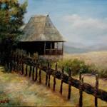 Koliba - 40x30, Ulje na platnu, umetnik Darko TOPALSKI