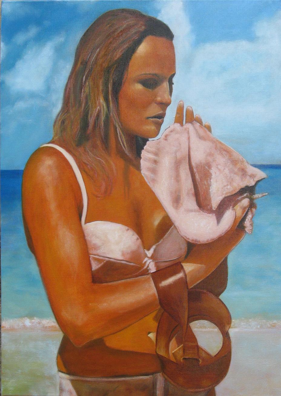 Kraj mora (Ursula) - 70x50cm, Ulje na platnu, umetnik Darko TOPALSKI