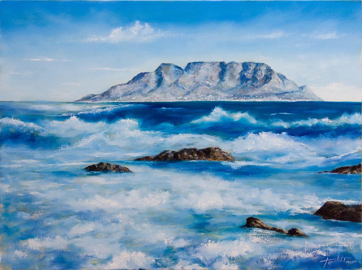 More i talasi - 80x60cm, Ulje na platnu, umetnik Darko TOPALSKI