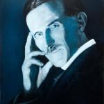 Nikola Tesla (plavi portret)- 40x30, Ulje na platnu, umetnik Darko TOPALSKI