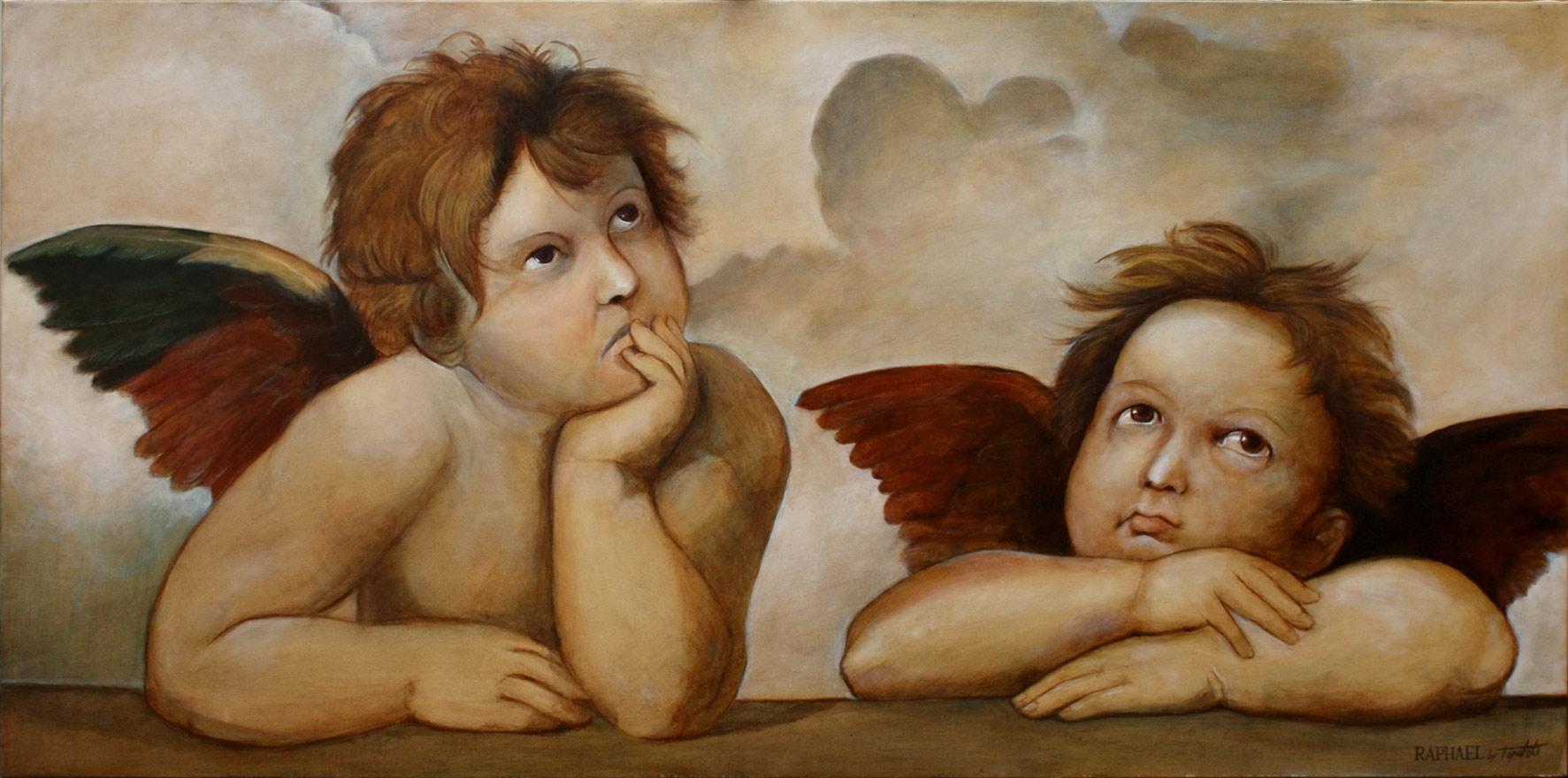 Rafaelovi Andjeli - 100x50cm, Ulje na platnu, umetnik Darko TOPALSKI