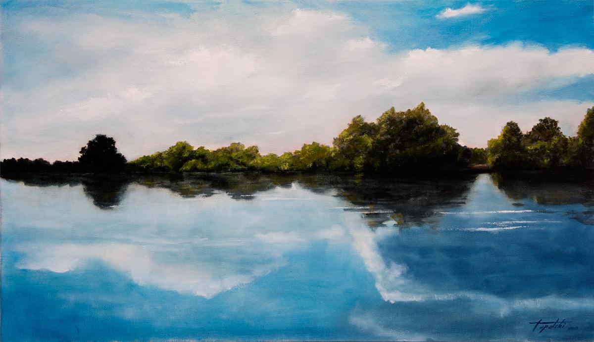 Reka Snova - 70x40cm, Ulje na platnu, umetnik Darko TOPALSKI