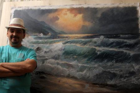 Po porudžbini - More i Talasi - UIje na platnu 106x153cm