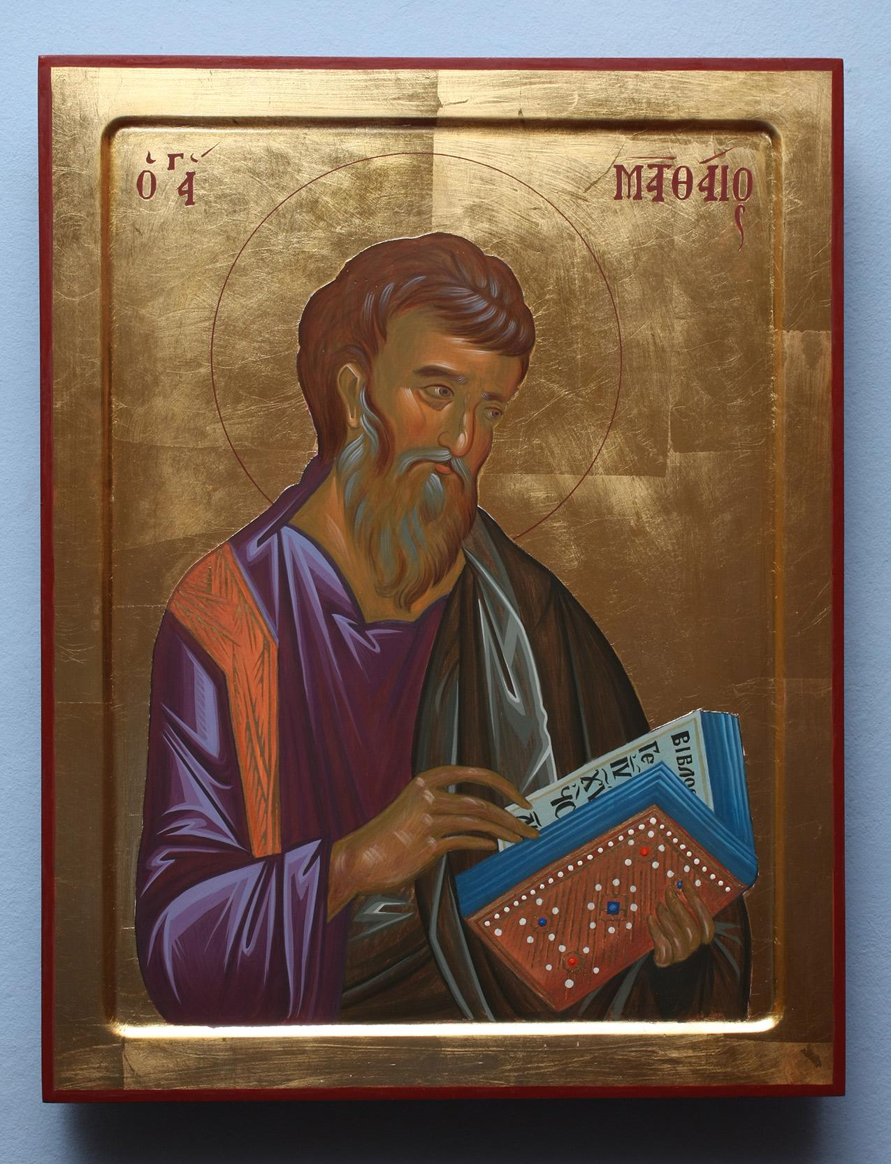 Sveti Matej Ikona po Vizantijskom kanonu - Darko Topalski