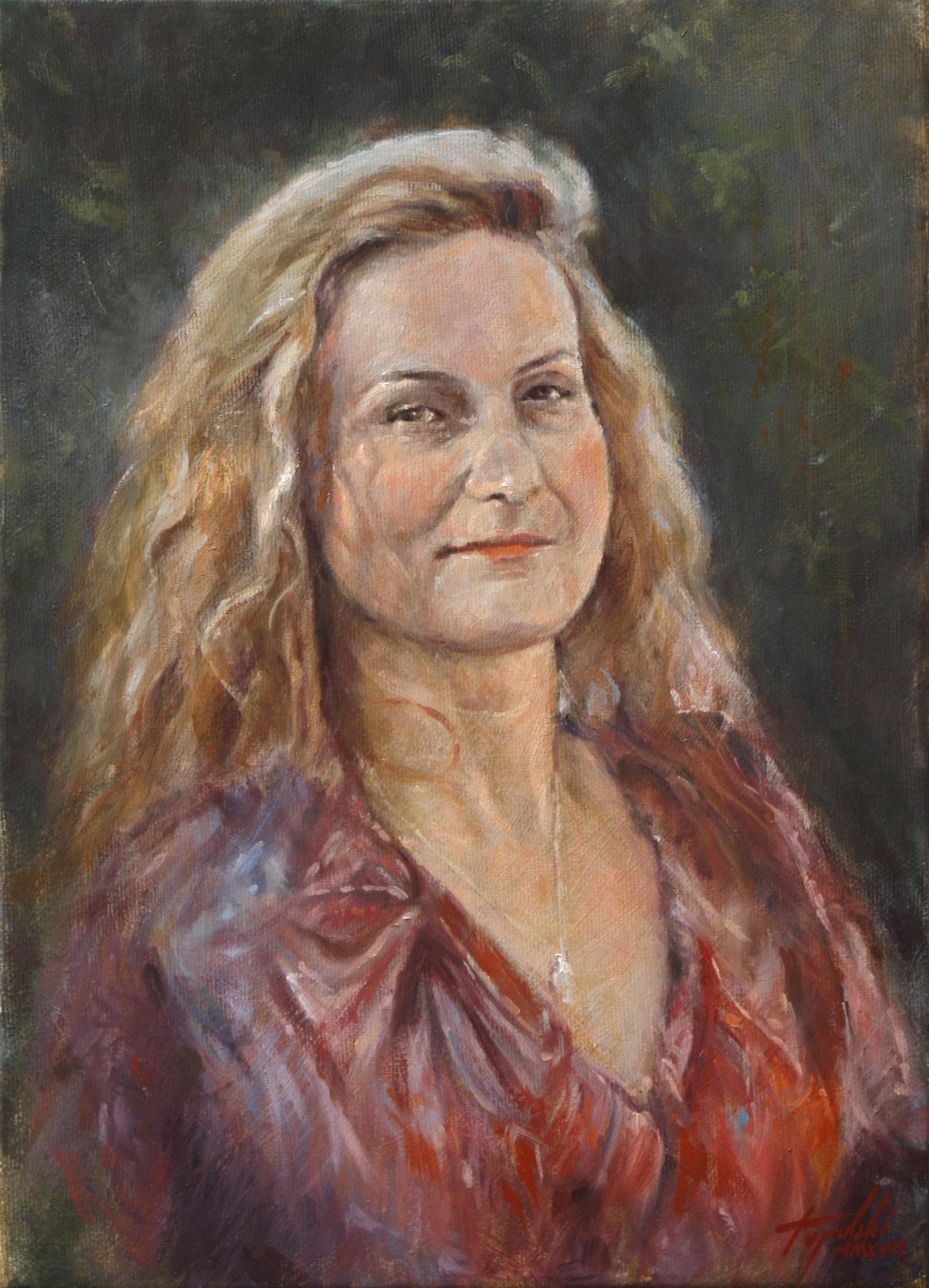 Umetnička Slika Portret - Tamara - Ulje na Platnu - umetnik Darko Topalski