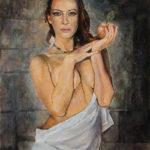 Umetnička slika - Devojka sa Jabukom - umetnik Darko Topalski