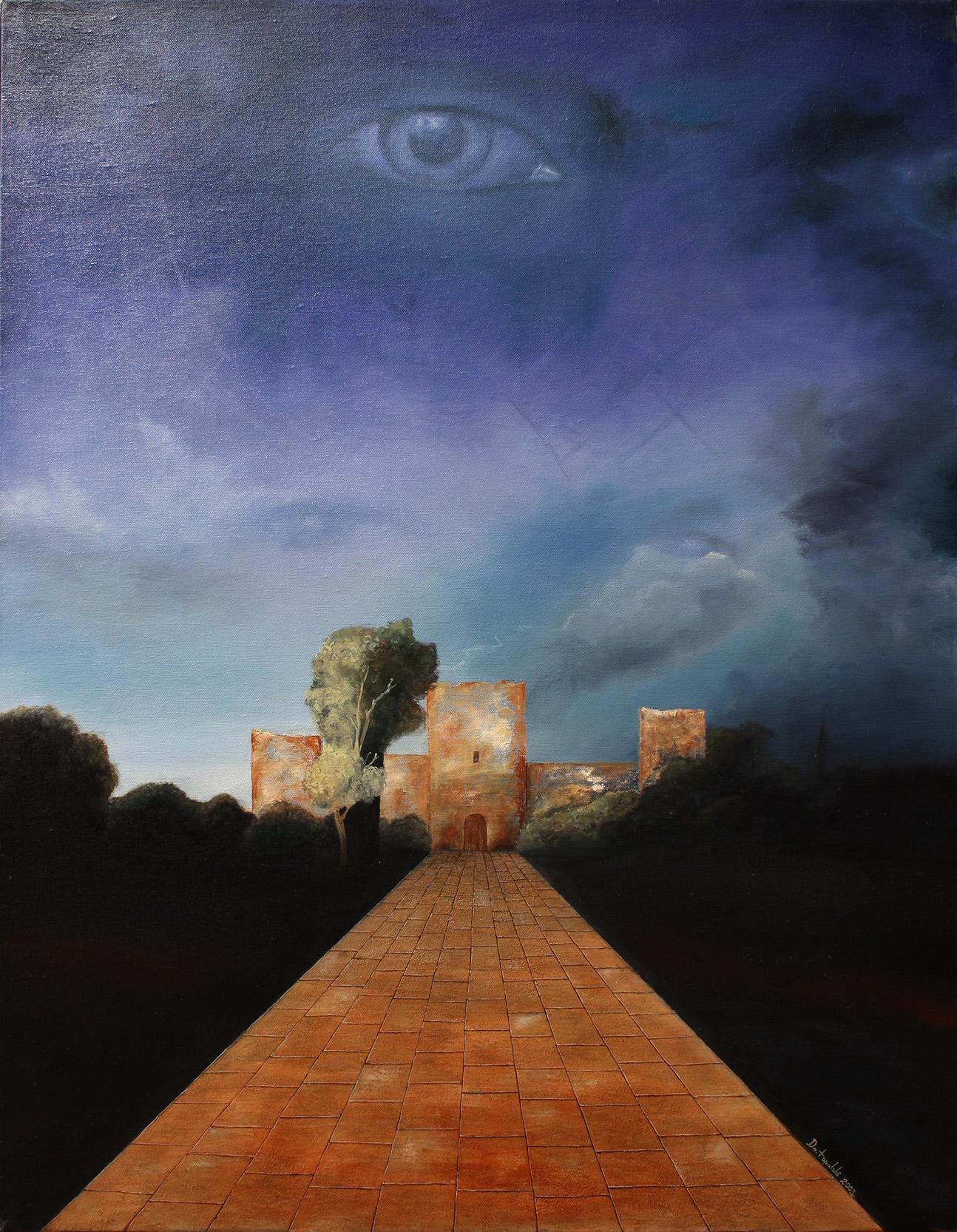 Umetnička Slika - Razotkrivanje Skrivenog - 90x70cm, 2003. Ulje na platnu umetnik Darko Topalski