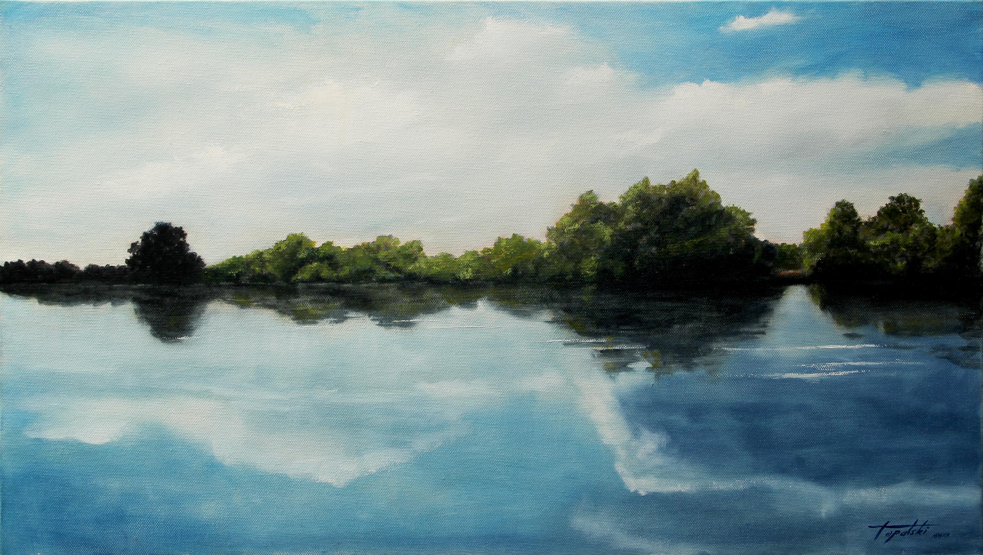 Umetnička Slika - Reka Snova - 40x70cm, 2012. Ulje na platnu umetnik Darko Topalski