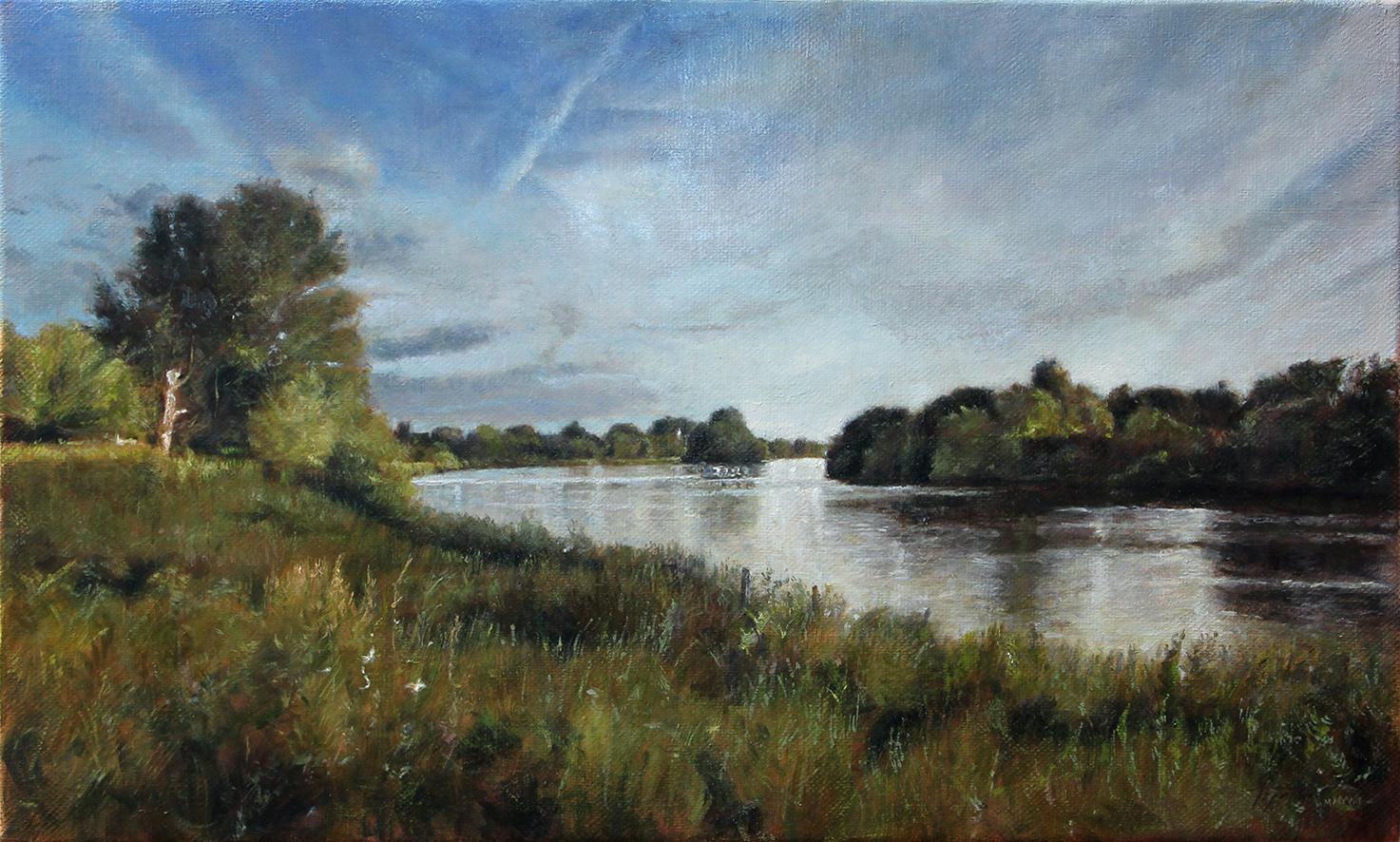 Reka Temza - 30x50cm, 2018. Pejzaž Ulje na platnu umetnik Darko Topalski