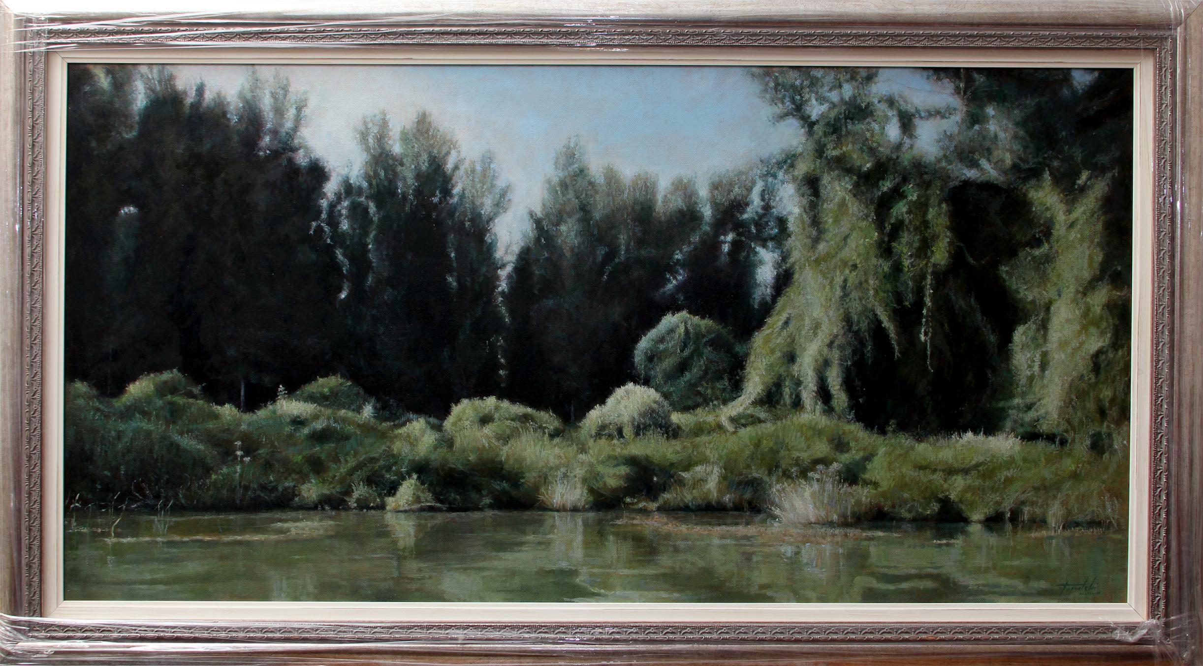 Reka Tisa - 60x120cm, 2018. Pejzaž Ulje na platnu umetnik Darko Topalski