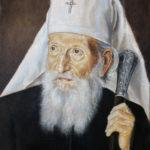 Umetnička slika -Srpski Patrijarh Pavle - 40x30cm-2018.-Ulje na platnu -umetnik Darko Topalski