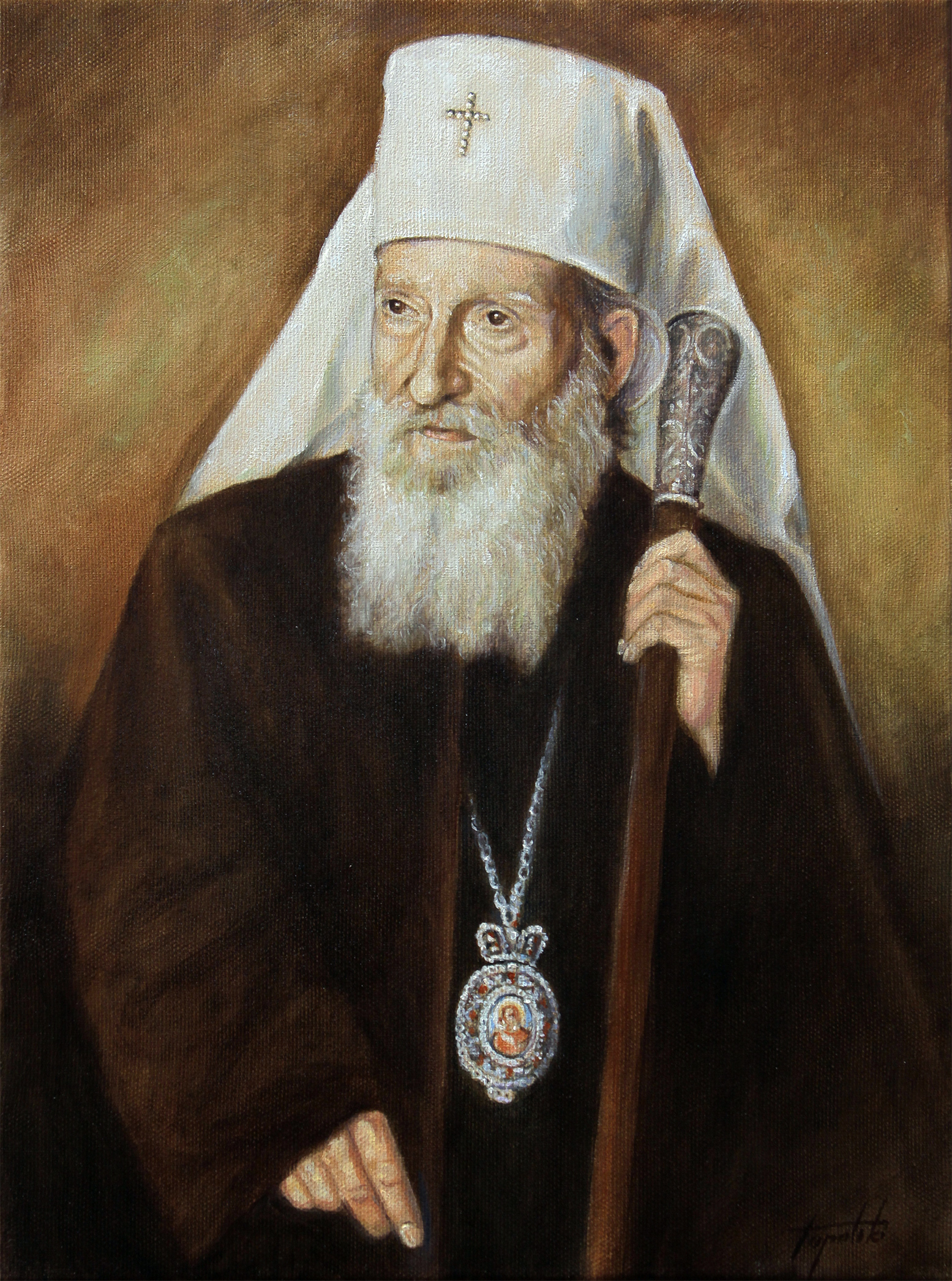 Patrijarh Srpski Pavle - Ulje na platnu 40x30cm - Akademski Umetnik Darko Topalski