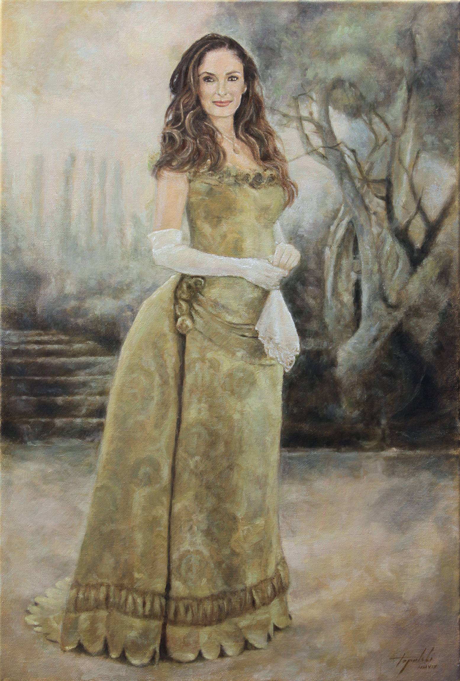 Umetnička slika - Viktorijanska Harmonija - 60x40cm Ulje na platnu - umetnik Darko TOPALSKI
