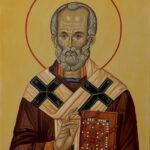 Православна Икона - Свети Никола - рам -уље на платну - уметник Дарко Топалски