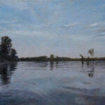 Umetnička slika - Reka Tisa - 40x60cm Ulje na platnu - umetnik Darko TOPALSKI