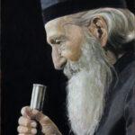 Уметничка слика - Патријарх Српски Павле - уље на платну - уметник Дарко Топалски