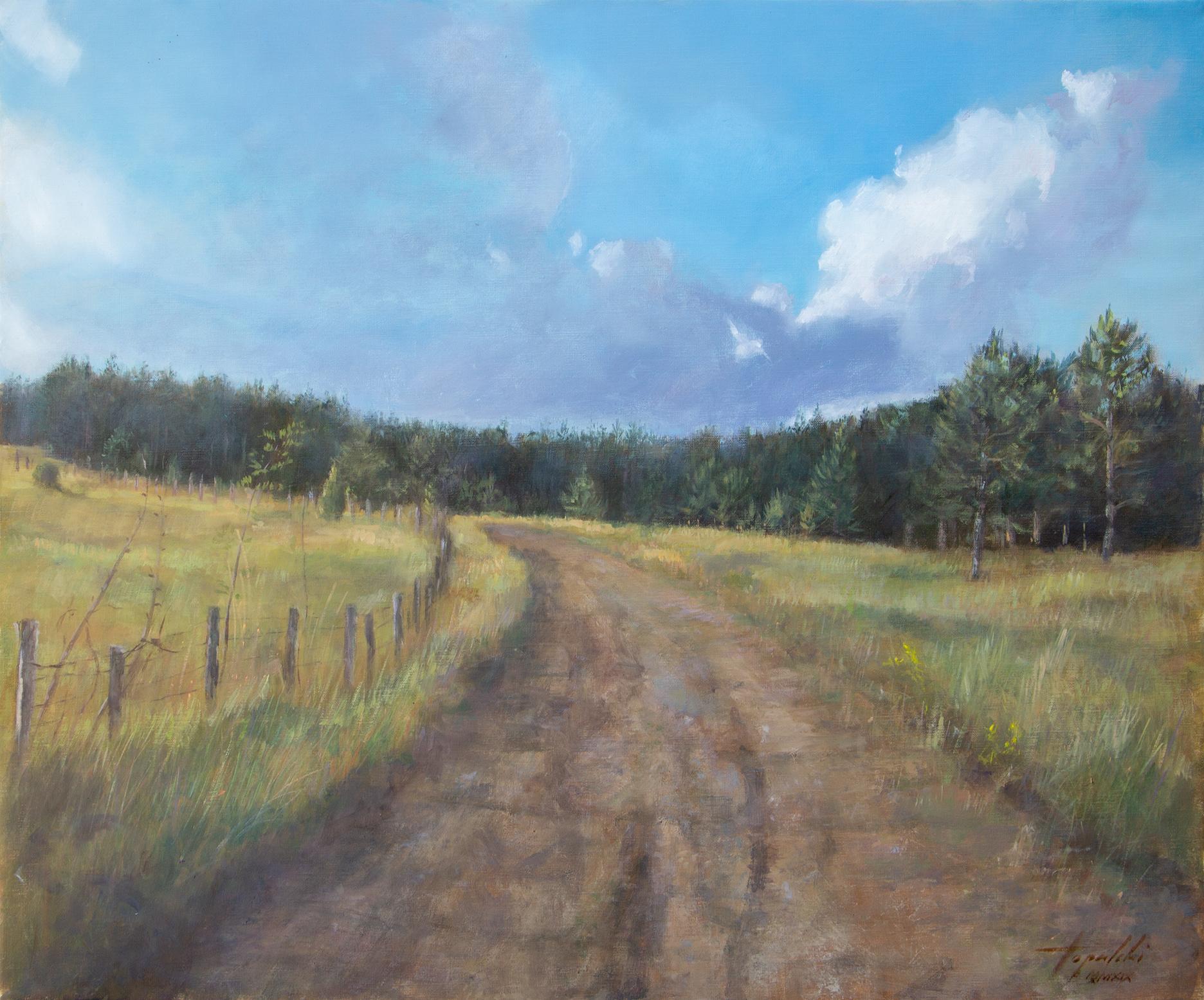 Umetnička slika - Kremna - Milenine Livade - 50x60cm Ulje na platnu - umetnik Darko TOPALSKI