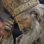Уметничка слика - Српски Патријарх Павле - уље на платну - уметник Дарко Топалски