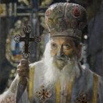 Umetnička slika - Srpski Patrijarh Pavle - ulje na platnu - umetnik Darko Topalski