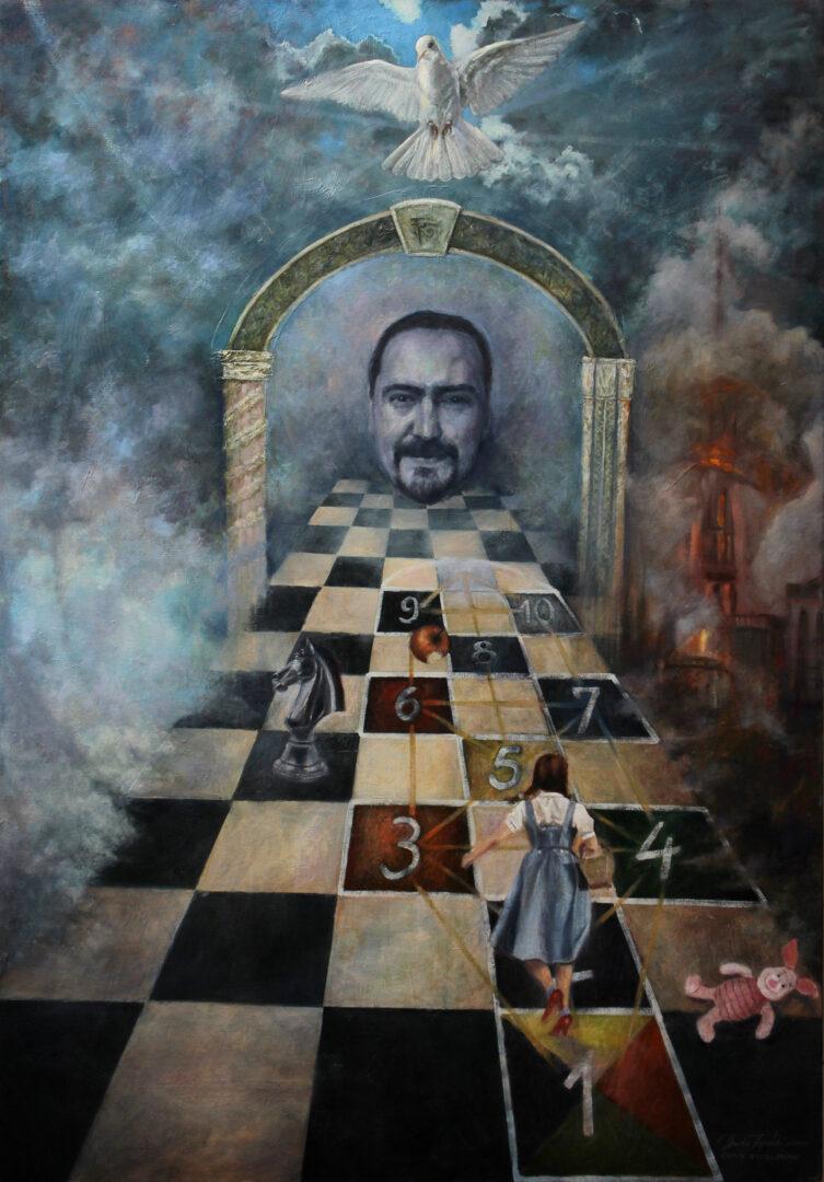 Umetnicka slika - Igra Zivota - ulje na platnu 120x80cm - Umetnik Darko Topalski