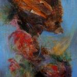Hiperion - Fantasticni pejzaz - Umetnička slika 40x23cm Ulje na platnu - umetnik Darko TOPALSKI