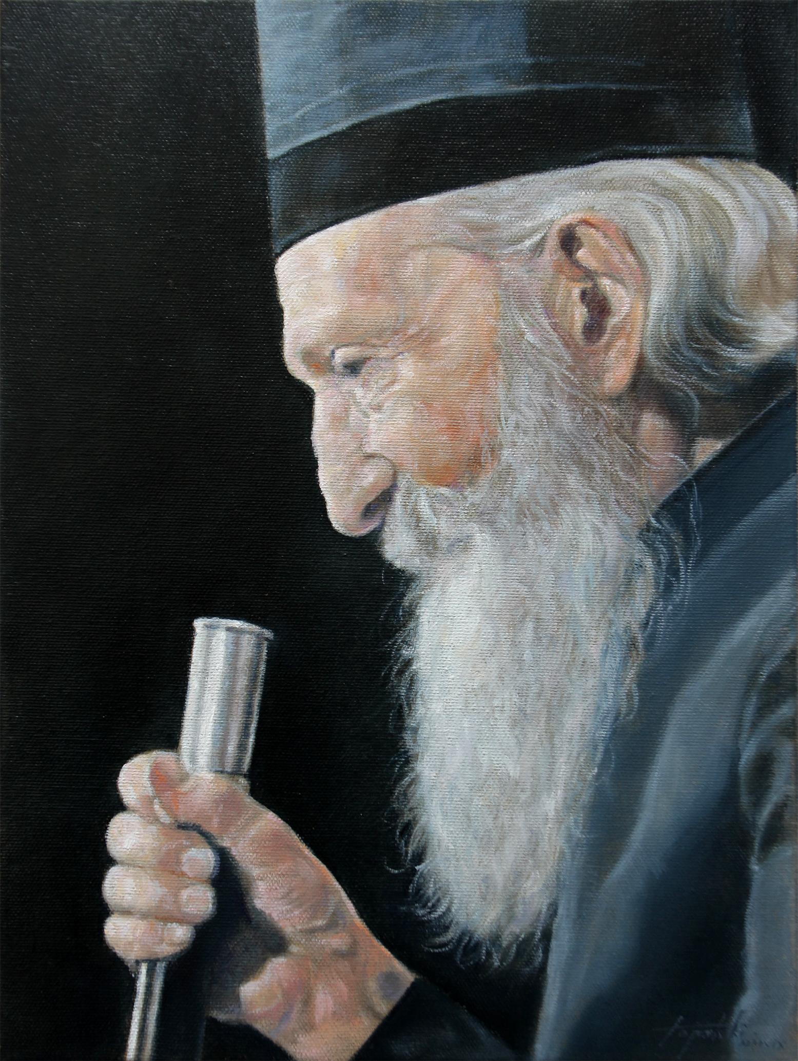 Патријарх Павле - уље на платну 40x30цм, 2019. аутор - сликар Дарко Топалски