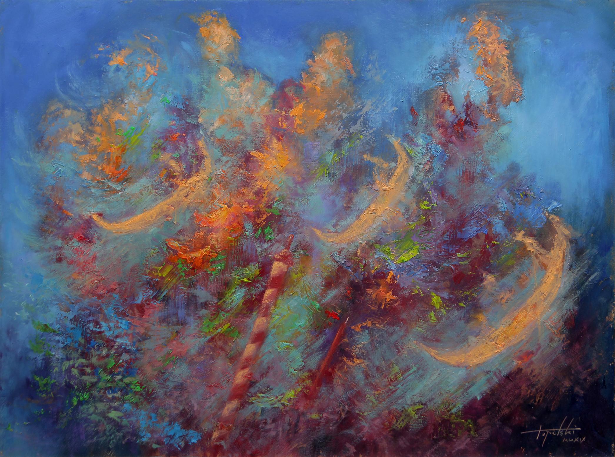 Gondolijeri - Umetnička slika 30x40cm Ulje na medijapanu - umetnik Darko TOPALSKI