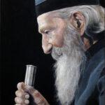 Патријарх Павле - уље на платну 40x30цм, 2020. аутор - сликар Дарко Топалски