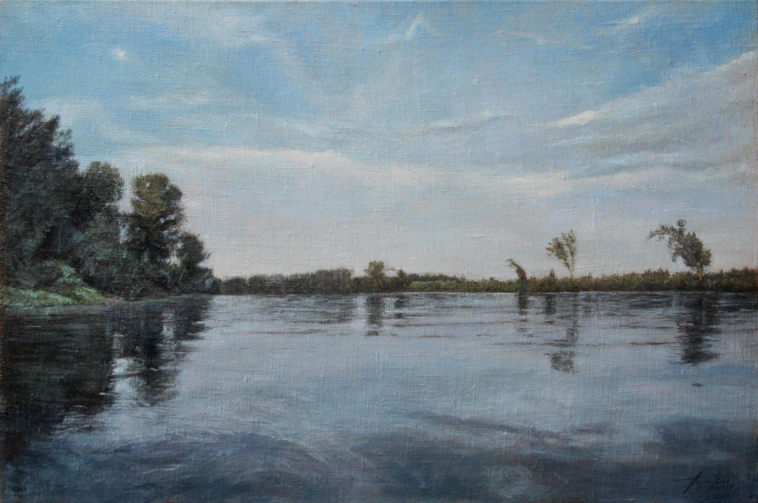 Reka Tisa - 40x60cm,2019. Ulje na platnu - umetnik Darko TOPALSKI