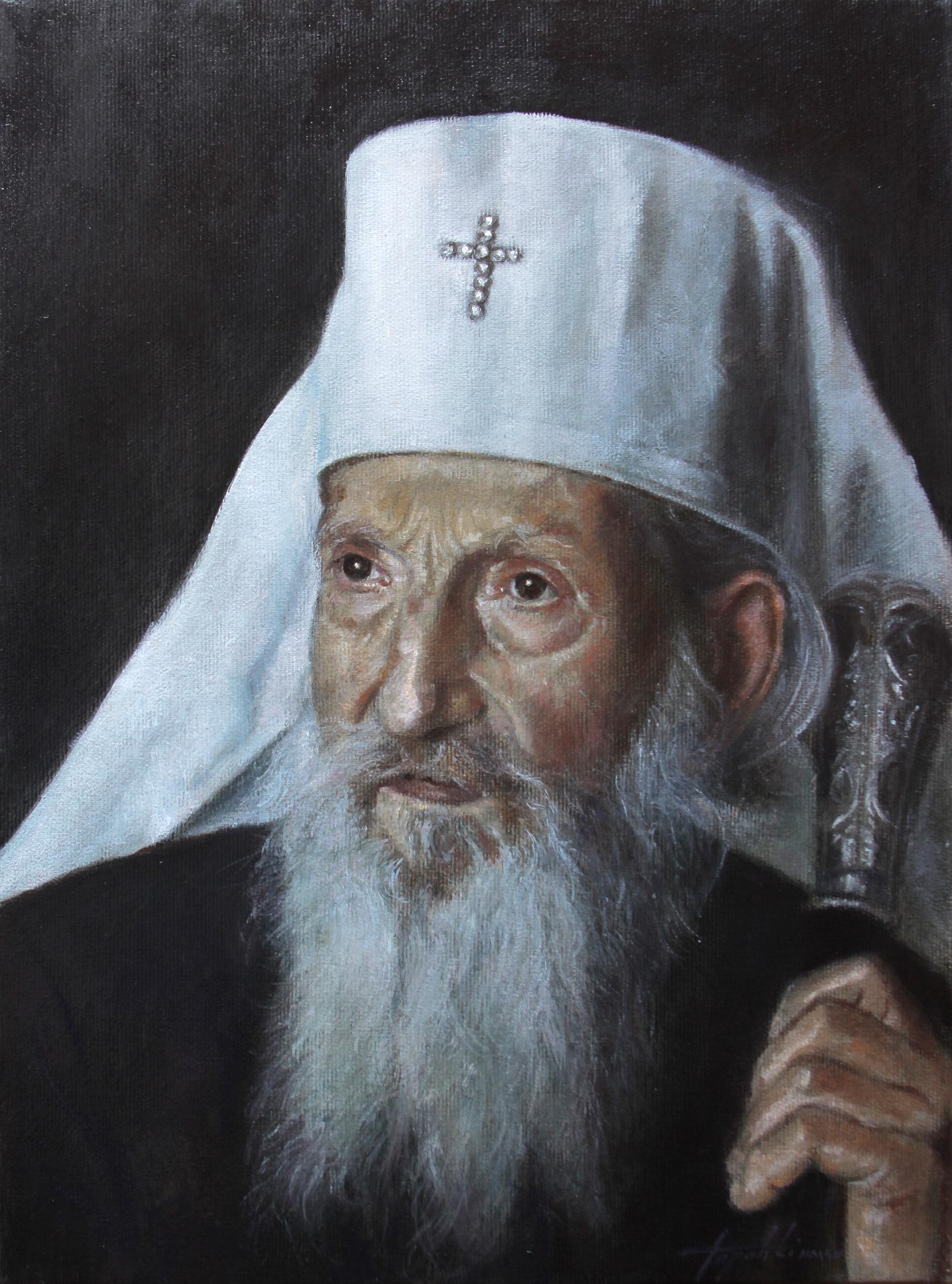 Патријарх Павле 2 - уље на платну 40x30цм, 2020. аутор - сликар Дарко Топалски