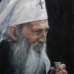 Патријарх Павле 4 - уље на платну 40x30цм, 2020. аутор - сликар Дарко Топалски