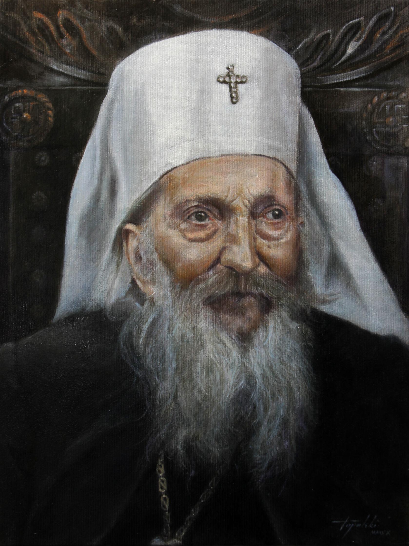 Патријарх Павле 5 - уље на платну 40x30цм, 2020. аутор - сликар Дарко Топалски