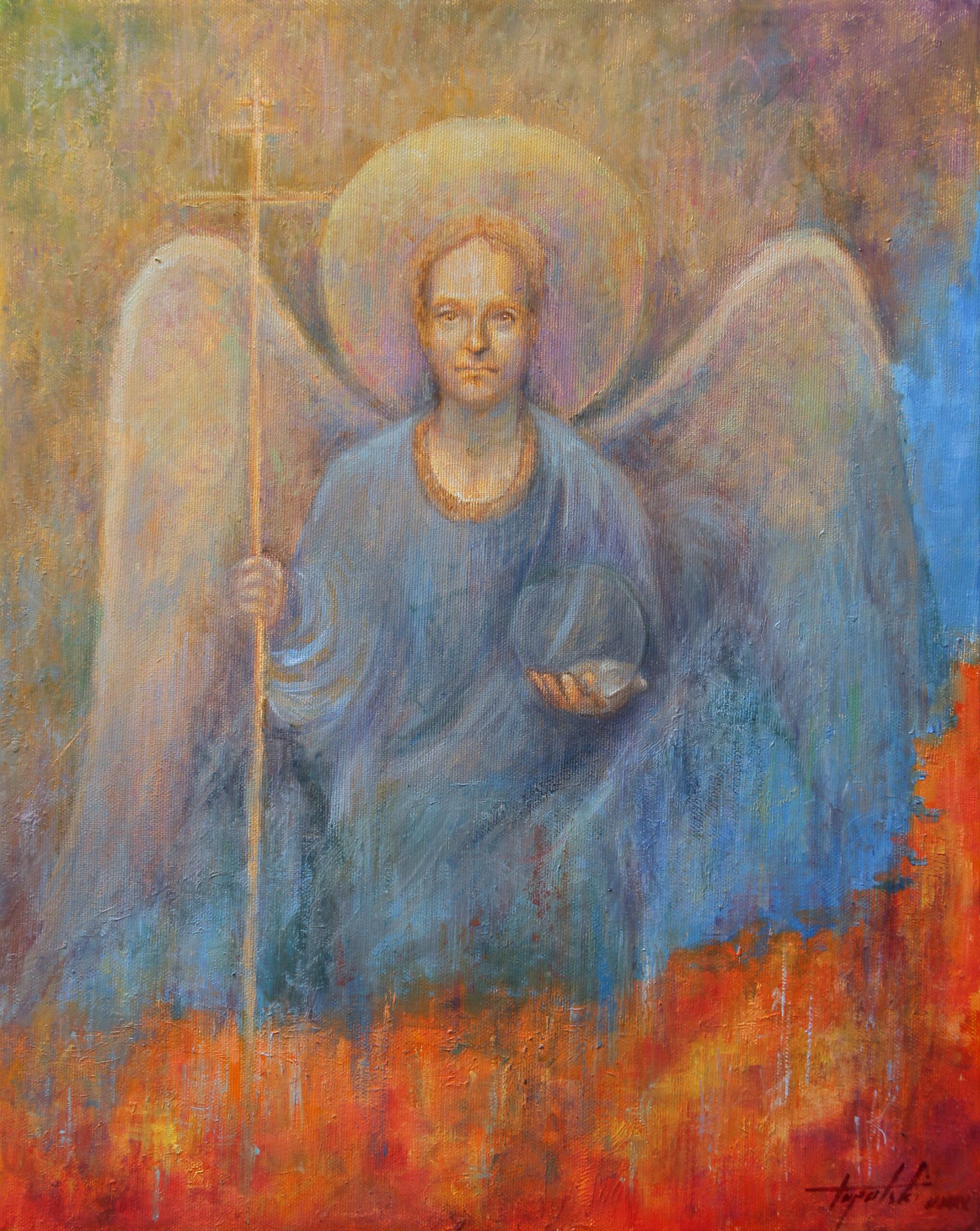 Mali Andjeo - Umetnička slika 50x40cm Ulje na platnu - umetnik Darko TOPALSKI