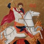 Sveti Georgije - Ikona 60x40cm Ulje na platnu - umetnik Darko TOPALSKI