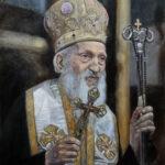 Umetnička slika - Srpski Patrijarh Pavle 50x40cm - ulje na platnu - umetnik Darko Topalski