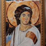 Beli Andjeo - Portret - Umetnička slika 70x50cm Ulje na platnu - umetnik Darko TOPALSKI