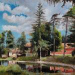 Radgost Rtanj - Umetnička slika 30x40cm Pejzaz Ulje na platnu - umetnik Darko TOPALSKI
