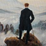 Umetnička slika - Lutalica nad morem magle - po Kasparu Davidu Fridrihu - Ulje na platnu po porudzbini -umetnik Darko Topalski