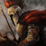 Umetnička slika - Spartanac - Ulje na platnu po porudzbini -umetnik Darko Topalski