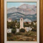 Umetnička slika - Stari Bar - Sat - 40x30cm Ulje na platnu - umetnik Darko TOPALSKI