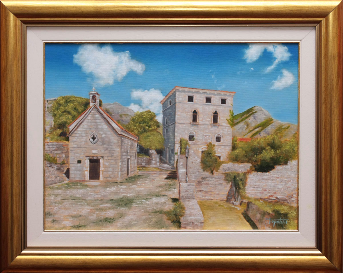 Umetnička slika - Stari Bar - detalj - 30x40cm Ulje na platnu - umetnik Darko TOPALSKI