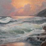 Pre Oluje - Umetnička slika 50x70cm Morski Pejzaz Ulje na platnu - umetnik Darko TOPALSKI