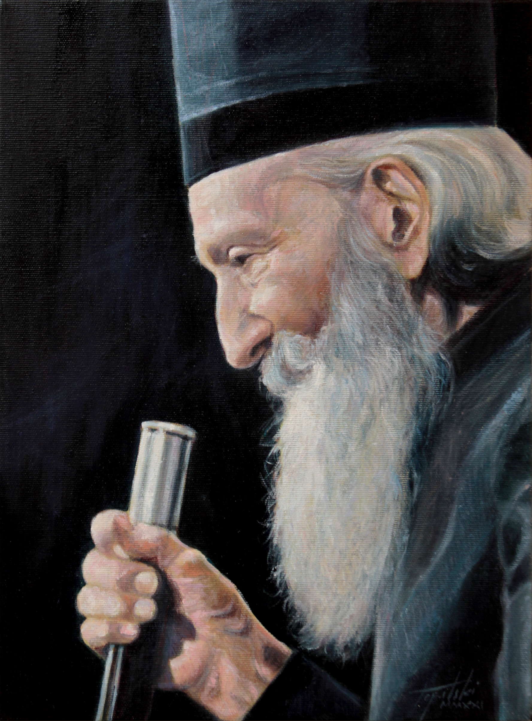 Патријарх Павле - уље на платну 40x30цм, 2021. аутор - сликар Дарко Топалски
